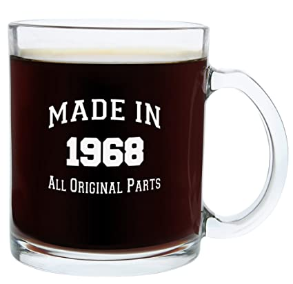 50th Birthday Gifts For Women Or Men Made 1968 Gift Ideas Glass Coffee