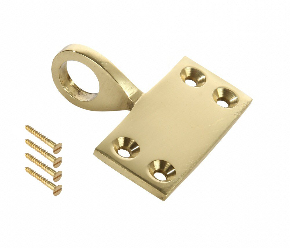 Dzina™ Pole Hook Pull (Sash Eye - Sash Lift) 12mm Polished Brass Pack of 1 DzinaTM