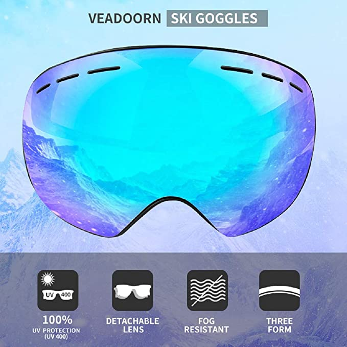 f2126202b60 Amazon.com   Veadoorn Ski Snowboard Snow Goggles