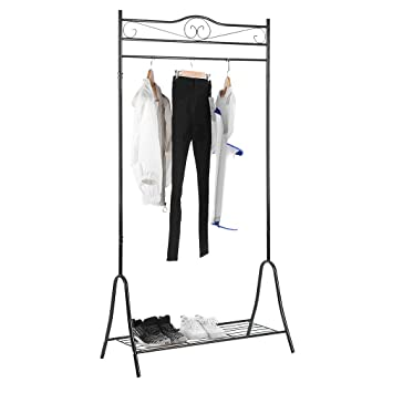Garderobenständer Stabil homgrace kleiderständer vintage garderobenständer stabil metall