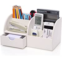 KINGFOM™ 7 Compartiments en PU Cuir Multi-fonctionnels Organisateur de Bureau