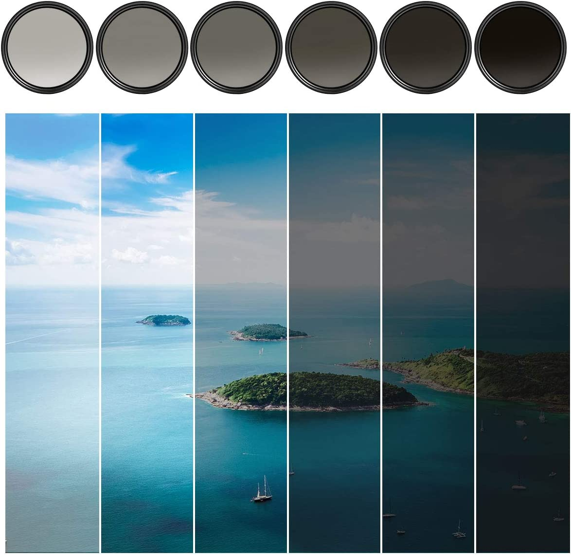 Amazon Com K F Concept 49mm Nd2 To Nd400 Variable Neutral Density Filter Slim Fader Nd Nd2 400 Optical Glass For Sony Nikon Canon Dslr Microfiber Cleaning Cloth For Cameras Lens Camera