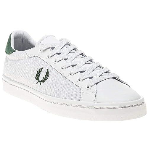 Fred Perry Lawn Leather Hombre Zapatillas Blanco: Amazon.es: Zapatos y complementos