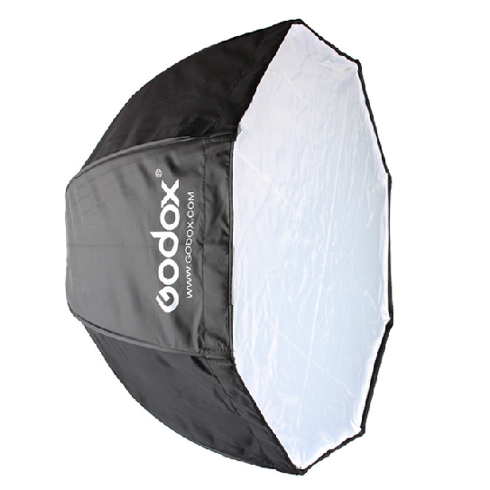 Godox 120cm/47.2in Portable Octagon Softbox Umbrella Brolly Reflector for Speedlight Flash