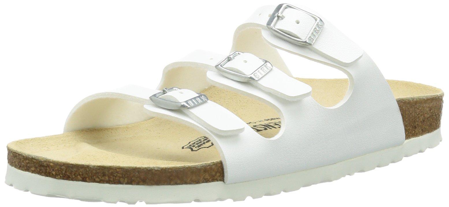 BIRKENSTOCK Women's Florida Birko-Flor Lacquer White Sandals - EU 37 (normal)