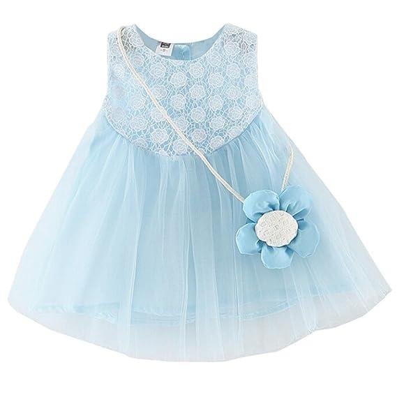 DRESS_start Vestido de Flores Boda Niña Vestido de Princesa Fiesta Infantil Elegante Bautizo Niña