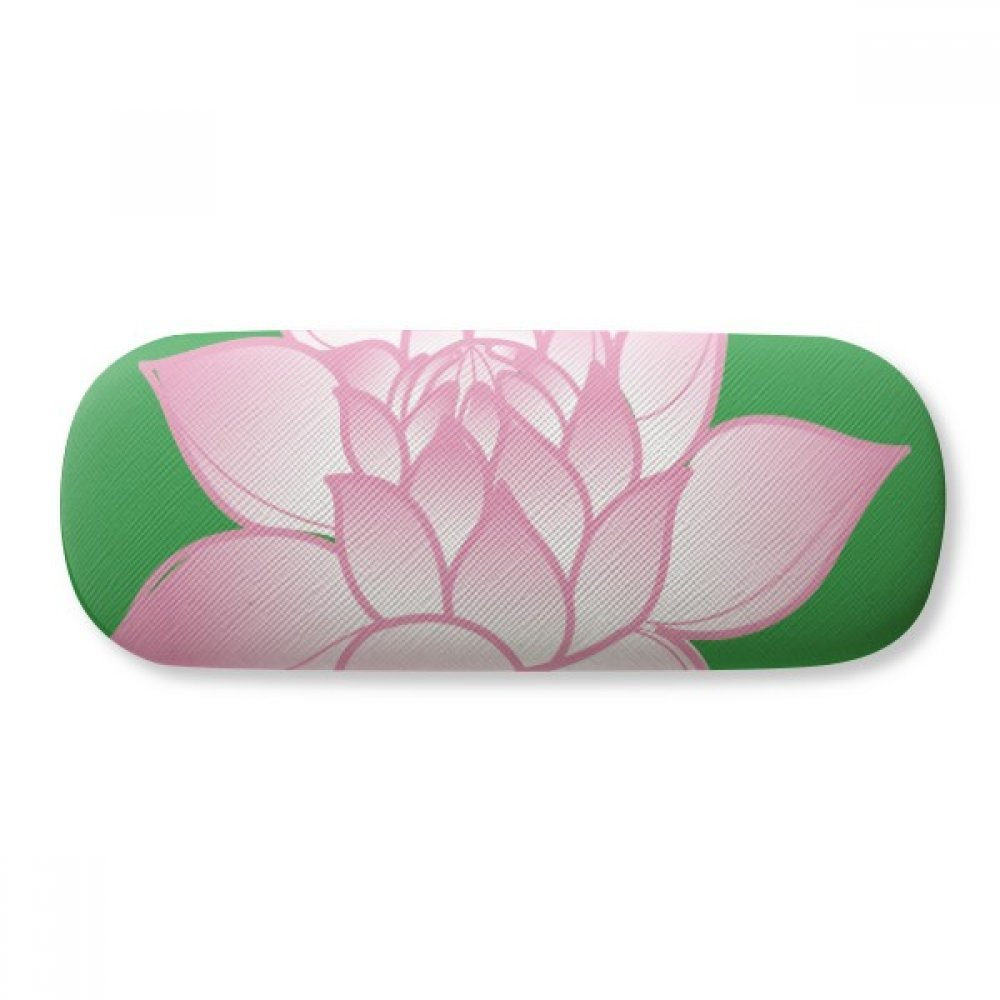 Flower Plant Lotus Flower Pink Pattern Glasses Case Eyeglasses Clam Shell Holder Storage Box