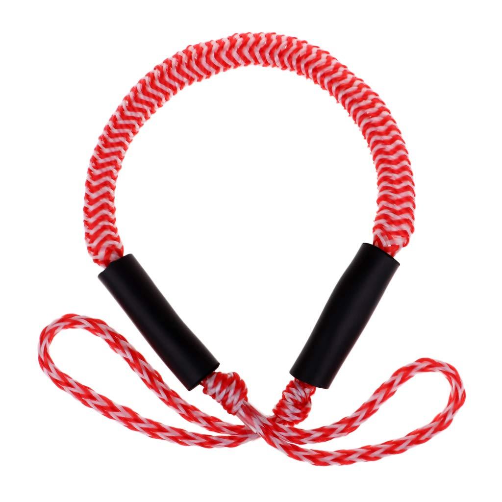 F Fityle 108 cm Cordón de Resistencia Elásticas de Surf de Remo, Bungee en Bucle con 1600LB, Extensión de 167 cm - Blanco Negro Extensión de 167 cm - Blanco Negro