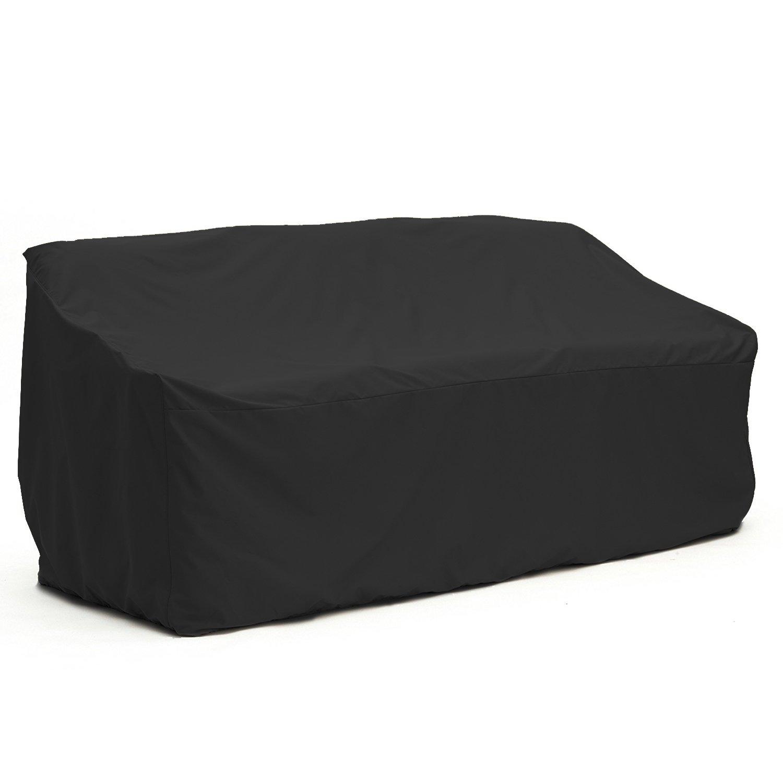 ALEKO CS021 Heavy Duty Weather Resistant Indoor/Outdoor Protective Patio Sofa Furniture Cover in Black, 69 Inch