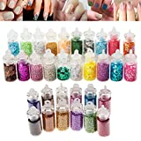 High Quality Professional Manicure Nail Art Glitters And Caviar Beads Sparkles Decorations Set Kit By VAGA®