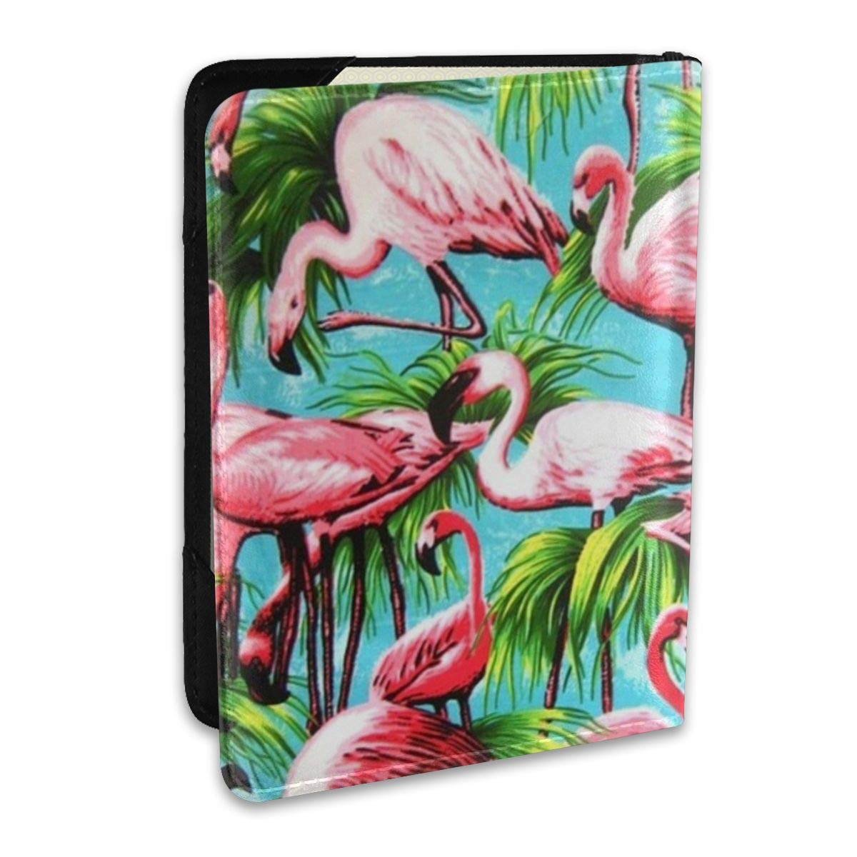 Flamingo Pattern Fashion Leather Passport Holder Cover Case Travel Wallet 6.5 In