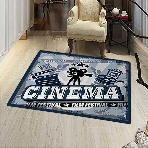 Movie Theater small rug Carpet Vintage Cinema Poster Design