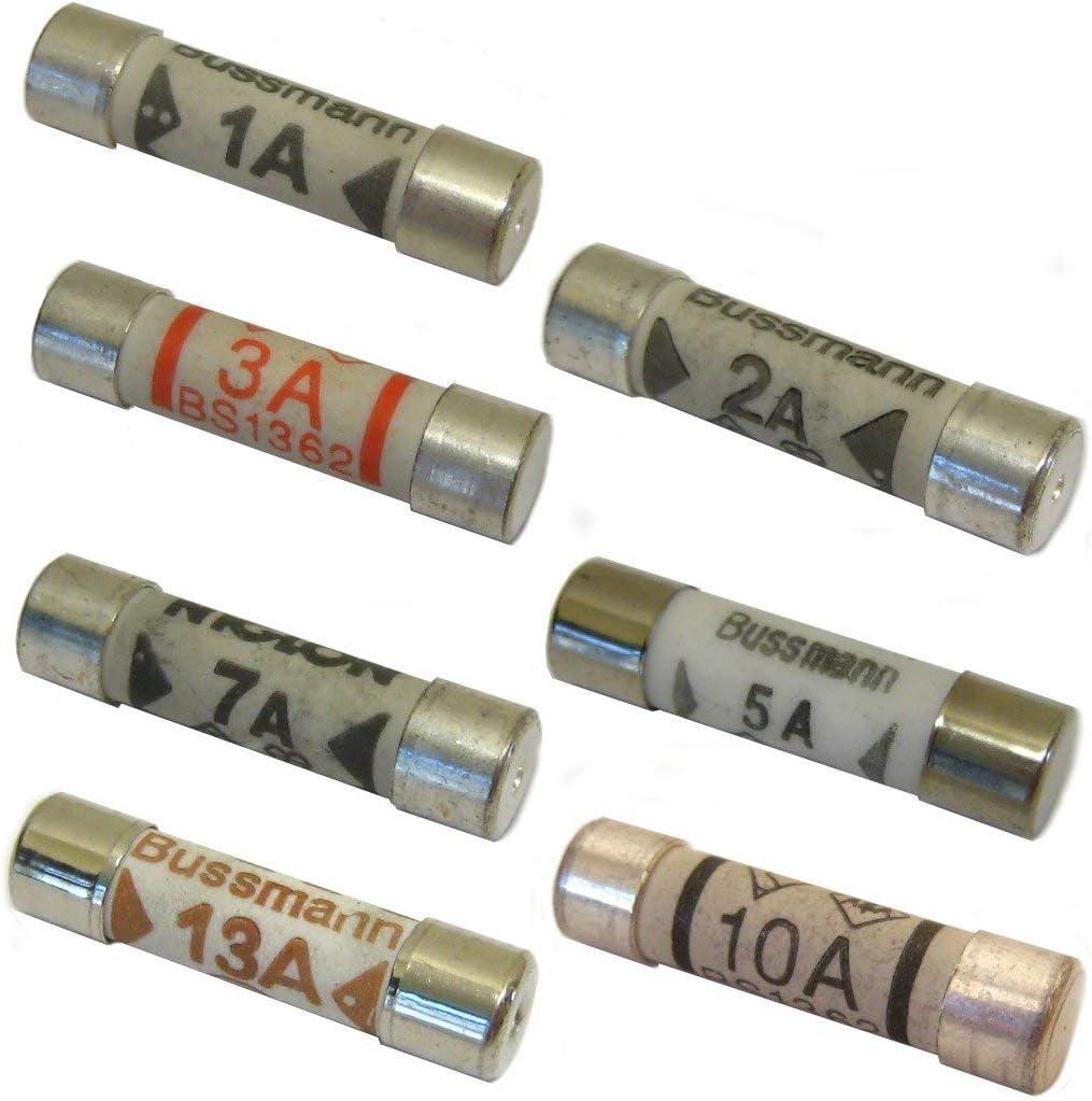 10 x 2A 2 AMP DOMESTIC HOUSEHOLD FUSE MAINS PLUG CARTRIDGE CERAMIC TUBE FUSE