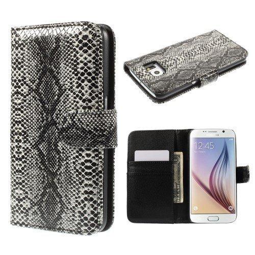 del teléfono celular de la caja de Shell del tirón de la cubierta del caso de Samsung Galaxy S6 / SM-G920F visita de piel de serpiente óptica piel de serpiente
