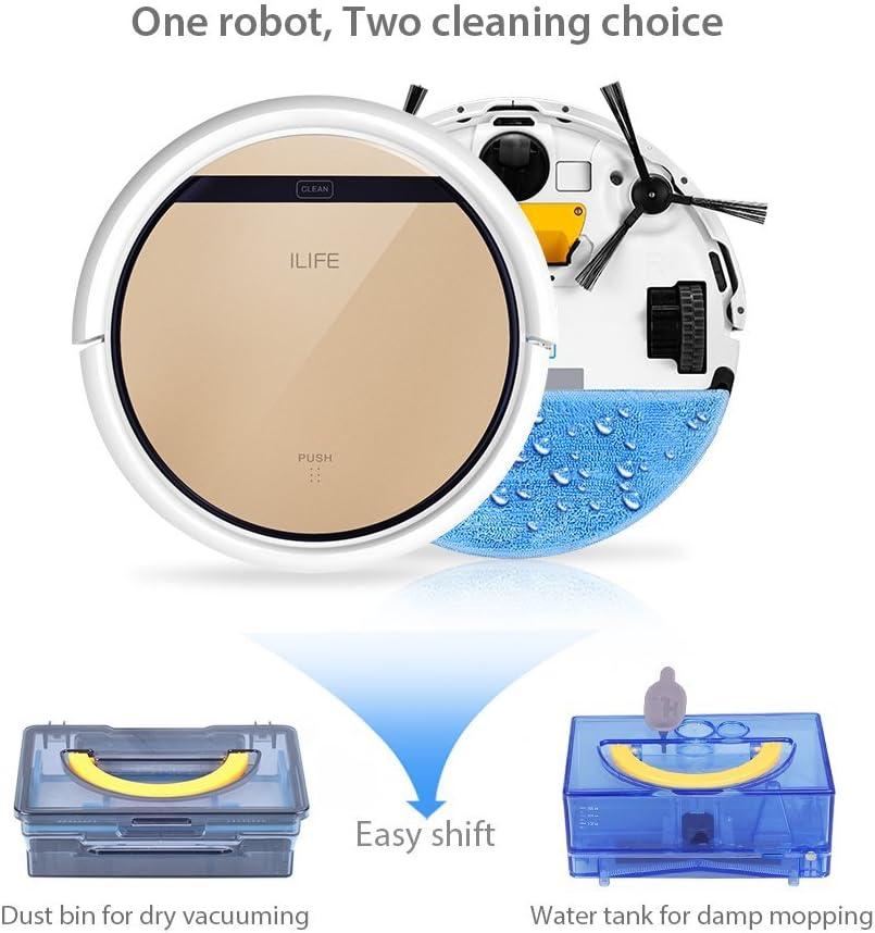 ILIFE V5s Robot Aspirador con Depósito de Agua Mopping, Oro ...