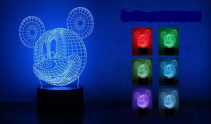Ksweet d lampada illusione mickey mouse design decor d lampade