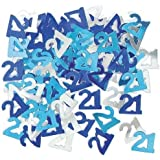 Party Confetti for 21st Birthday - Blue/Silver