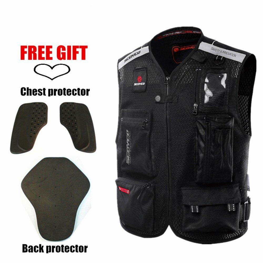 Scoyco JK46 Men's Motorcycle Auto Racing Vest (XL, Black) by SCOYCO (Image #7)
