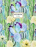 Cactus Notebook: Cactus Garden Notebook (Journal, Composition Book) (8.5 x 11 Large), Cactus Lover Gifts