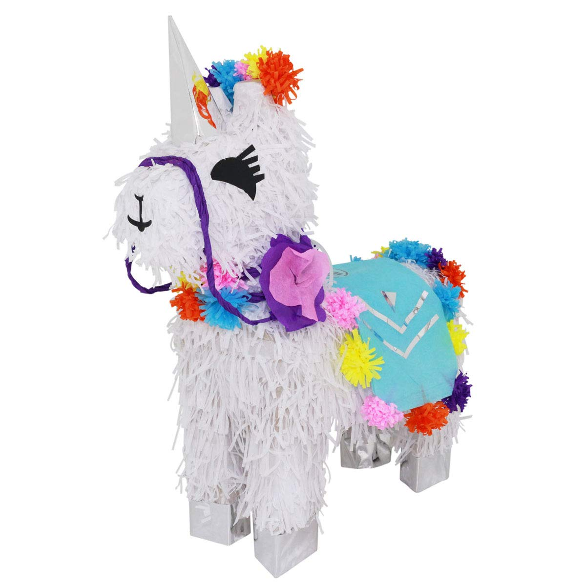 Lytio Unicorn Llama Mix-Match Pinata Peruvian Style Handmade Ideal for Parties, Center Piece or Photo Prop