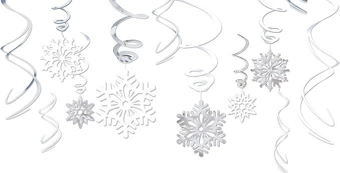 Amscan Decorazioni Design Forma di Fiocco di Neve