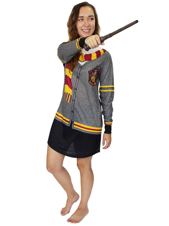c515bb83ba Harry Potter Hogwarts Gryffindor Women s Long Sleeve Nightgown Pajamas at  Amazon Women s Clothing store