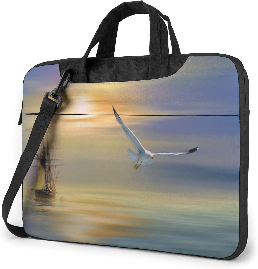 Notebook Sony Business Briefcase Protective Bag for Ultrabook Laptop Shoulder Bag Carrying Laptop Case 13 Inch Samsung Seagull Sunset Print Computer Sleeve Cover with Handle Asus MacBook