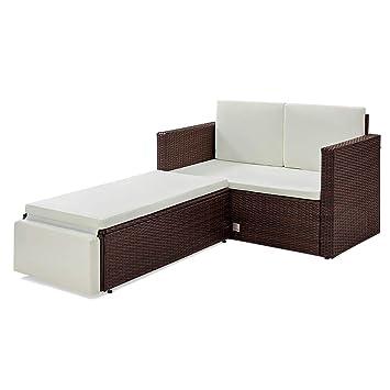Amazon De Svita Libby Polyrattan Lounge Gartenset Sofa Garnitur