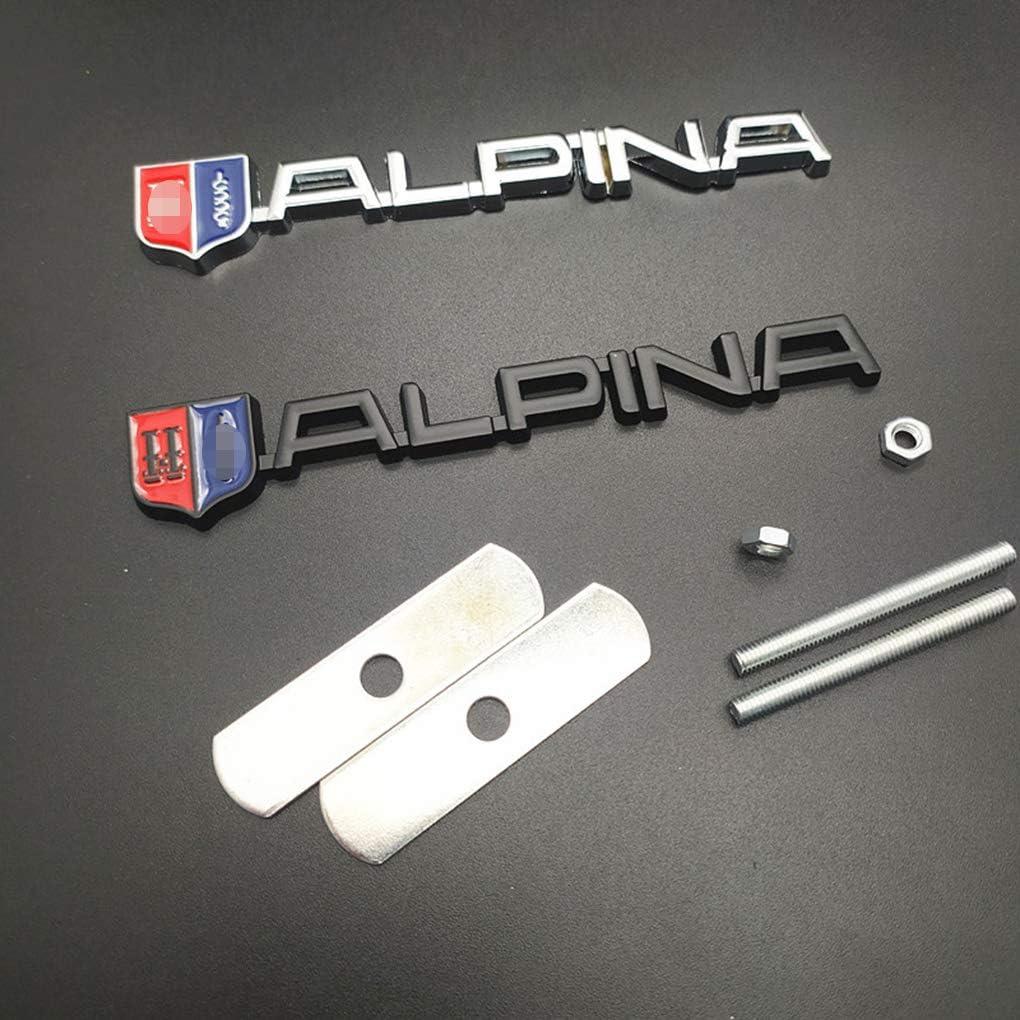 f/ür BMW Alpina Logo E46 E39 E90 E60 E36 F30 X1 WNMASS Auto Vorne K/ühlergrill Emblem Badge Abzeichen Aufkleber Dekoration Logo Refit Zubeh/ör Auto Styling