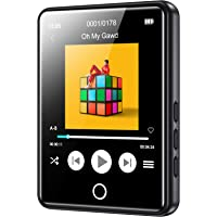 RUIZU Mp3 Player with Bluetooth 5.0,16GB Music Player with FM Radio,Built-in Speaker,Touch Screen HiFi Sound Bluetooth…