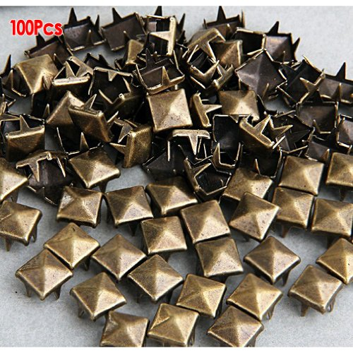 Gleader 100 Pcs. 8.00 Mm. Brass Glam Pyramid Studs (Glam Stud)