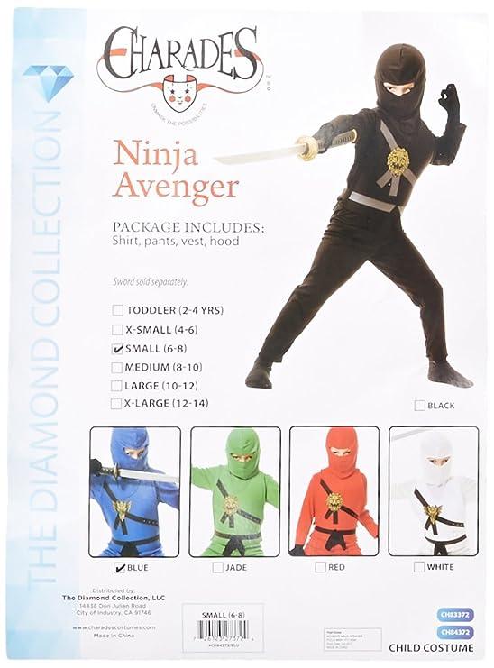 Amazon.com: Big Boys Ninja Avengers Series I Blue Costume ...