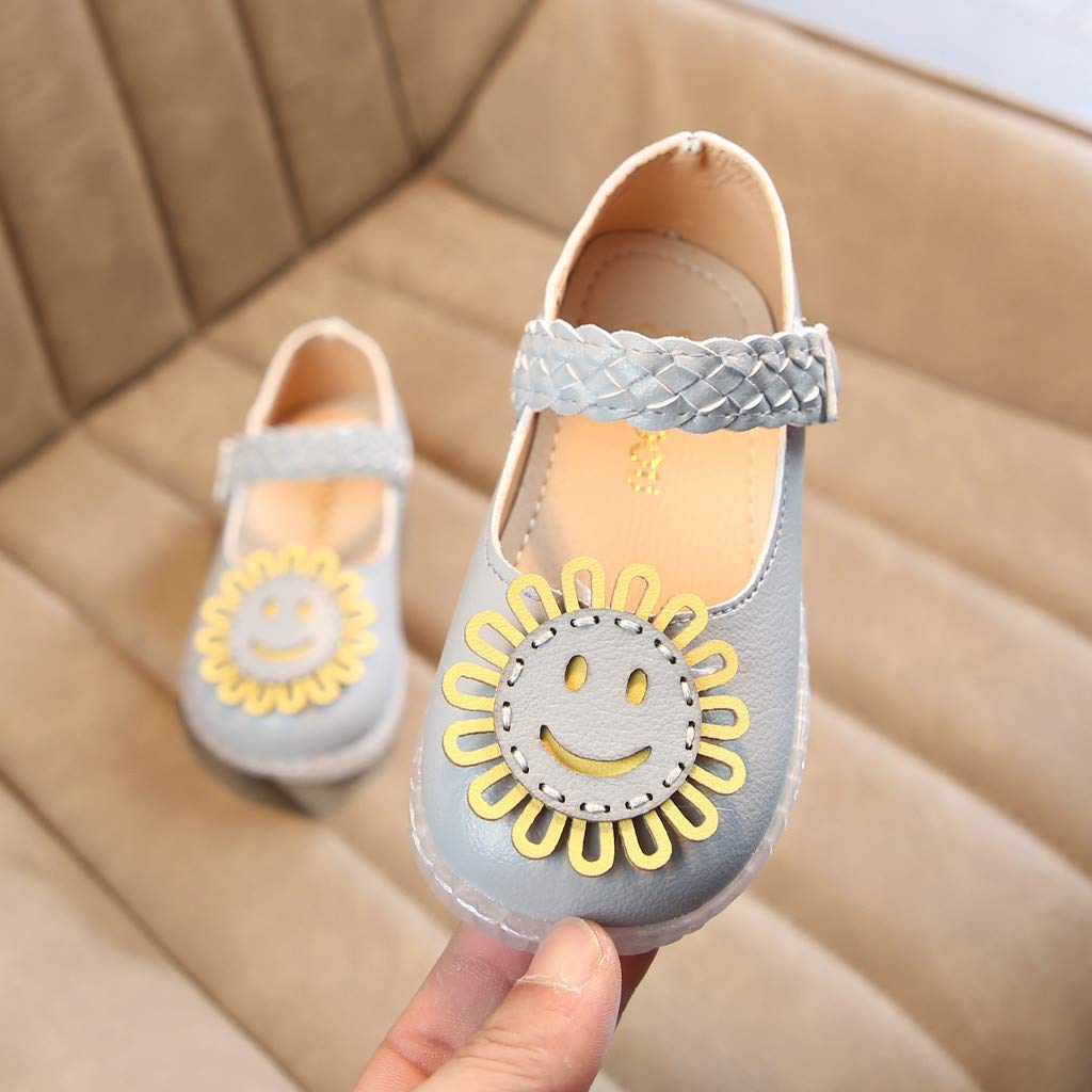 Tronet Toddler Infant Kids Baby Girls Cartoon Flower Single Princess Shoes Sandals Princess Dress Shoes