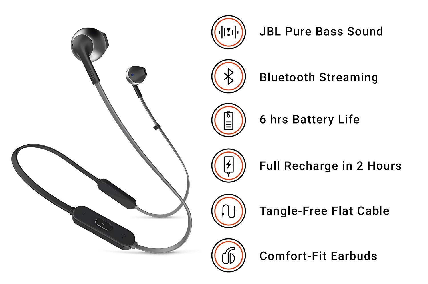 cc50c0993af JBL TUNE 205BT Wireless In-Ear Earbud Headphones with: Amazon.co.uk:  Electronics