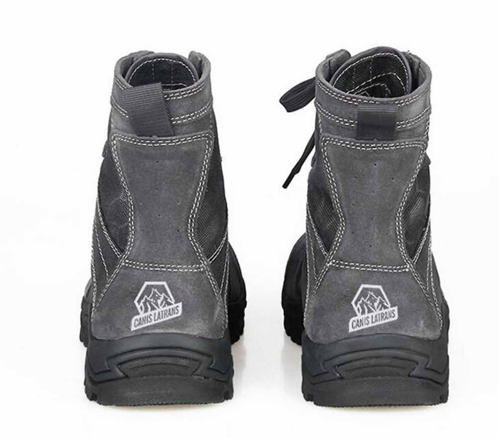 SHIXRAN Männer High Rise Taktische Stiefel Python Python Python Pattern Camouflage Klettern Schuhe Leder Warm Breathable Stiefel a53565