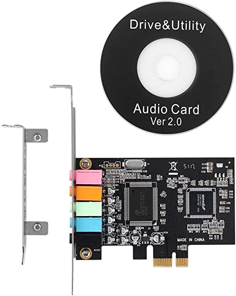 Qnine Pcie Sound Card 5 1 Internal Sound Card For Pc Computers Accessories