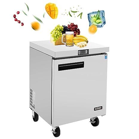 KITMA refrigerador de una sola puerta bajo encimera, 7.2 pies ...