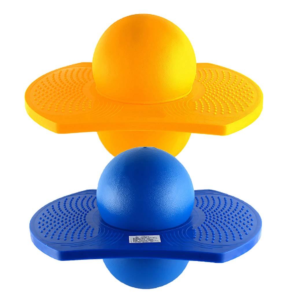 Fityle 2 Pieces 37x25x29cm Bouncy Jumping Balance Board Pogo Ball Kids Children Outdoor Sports Fitness Fun Garden Park Activity
