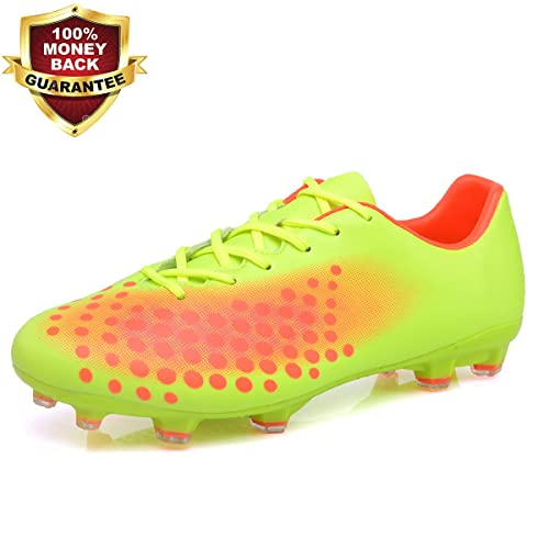 4f36f478507 Soccer Shoes Indoor Outdoor Football Boots Athletic Turf Mundial Team Cleat  Running Sports Lightweight Breathable Anti-Skid Damping Shoes for Men and  Kids ...