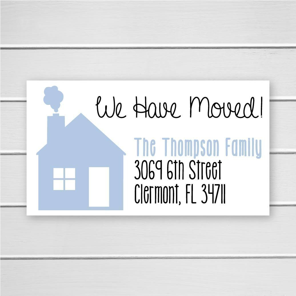40ct - Return Address Labels, We Have Moved Address Labels, New Home Address Stickers (#302-1-L)