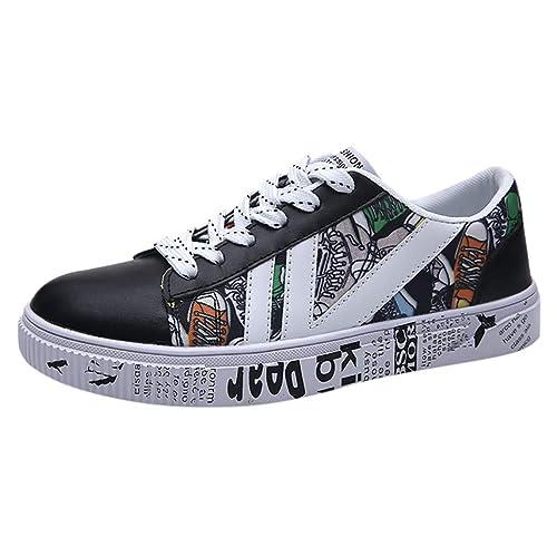 Tefamore Zapatillas de Deporte Hombre Zapatos para Correr Casual Imprimir Running Gimnasio Sneakers: Amazon.es: Zapatos y complementos