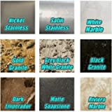 EZ Faux Decor Marble Granite Stainless Set of 8 Sample SWATCHES 4' x 4' Each Self Adhesive Peel and Stick for Instant…