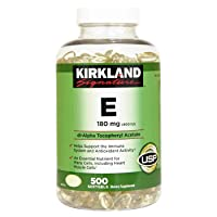 Kirkland Signature Vitamin E 400 I.U. 500 Softgels,(2 Count)