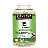 Kirkland Signature Vitamin E 400 IU 180 mg., 500 Softgels