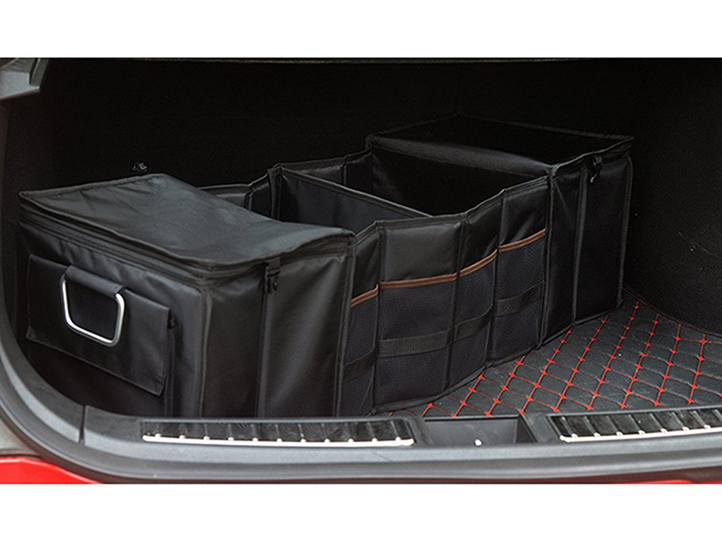 Car Foldable Waterproof Auto Rear Trunk Cargo Organizer Storage Container Car Trunk Container Compatible Tesla Model S Model X
