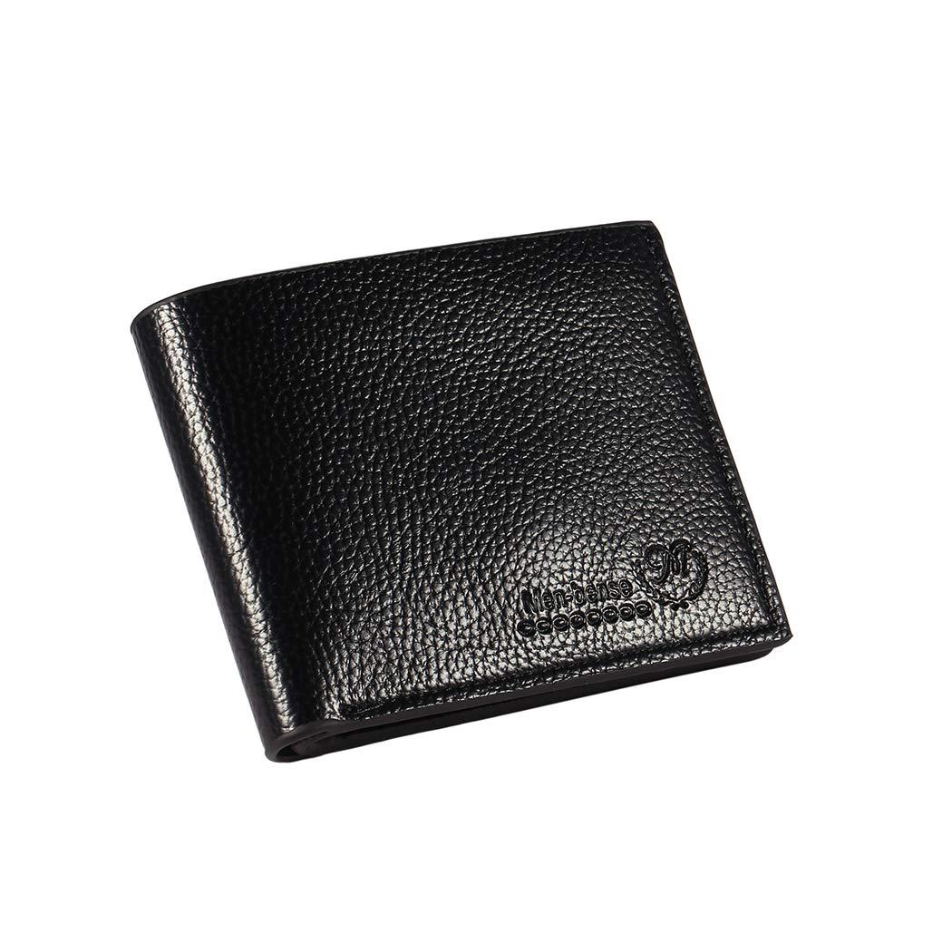 MYEDO Men Trifold Wallet Letter Print Slim Short Bifold Open Wallets Money Pockets Credit//ID Cards Holder Purse