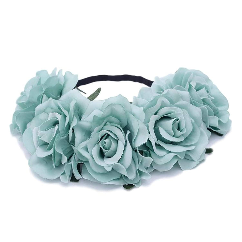 Wedding Decoration Headband Supply Headband Flowers Hair Craft Flower Rose Wire Flowers Apple Green Mini Rose Flowers Crown Flowers