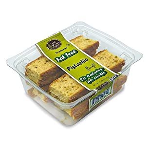 DIJAS Natural Foods, Fat Free Biscotti Cookie, All Natural Preservative Free Ingredients, Delicious Low Calorie Snack (5 Ounces, Pistachio)