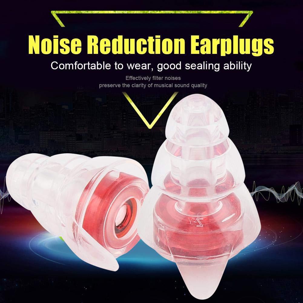 Tapones para o/ídos de ruido de alta fidelidad 27dB con la protecci/ón auditiva de aluminio de concert Bar fiesta