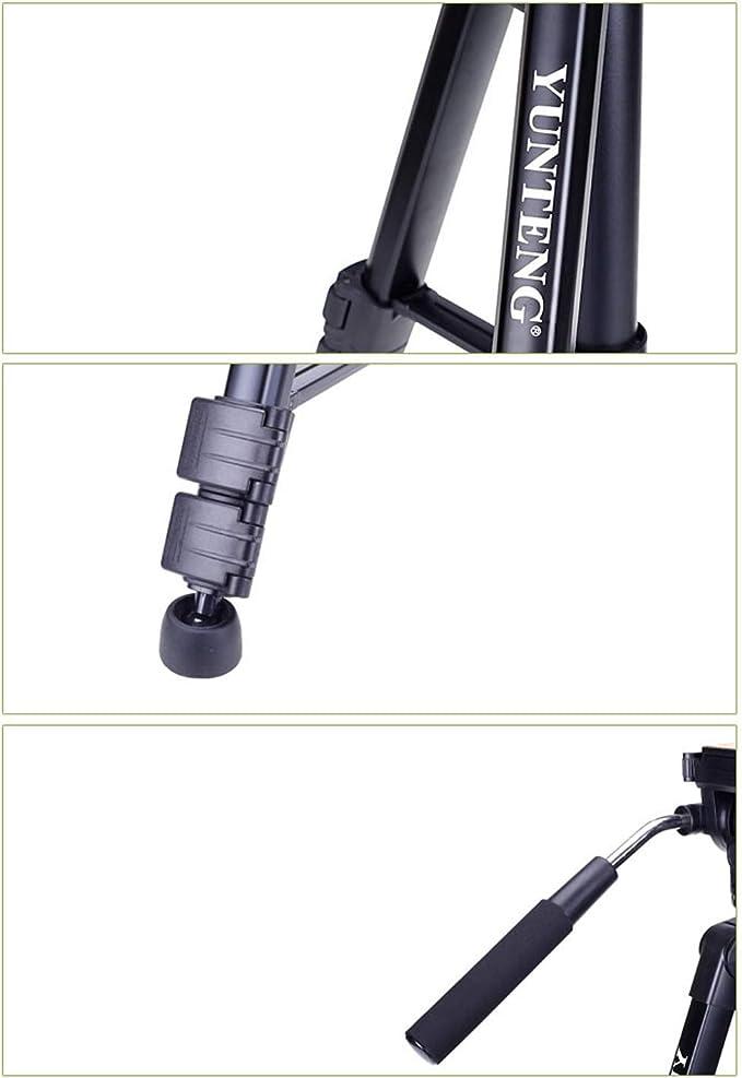 Maximum Load 5KG CJGXJZJ Camera Tripod Multi-Style Optional Lightweight and Portable Aluminum Alloy Tripod with Storage Bag Black Design : A